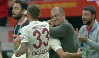 """""""Împăratul"""" Fatih Terim s-a închinat în fața lui Moruțan! Cum a reacționat antrenorul Galatei după golul superb al românului VIDEO"""