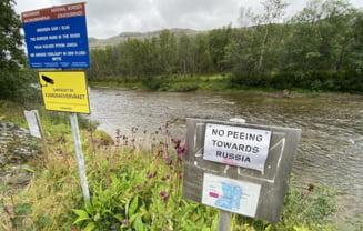 """""""Nu urinați spre Rusia!"""". Avertismentul ciudat plasat de Norvegia la graniță: amenda ajunge la 300 de euro"""