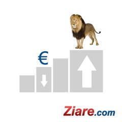 Curs valutar: Euro scade si mai mult, dolarul creste