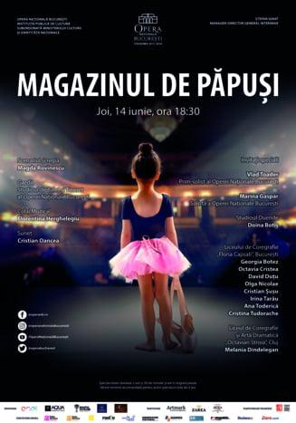 """""""Magazinul de papusi"""", spectacol al Studioului de Balet pentru Copii si Tineret al Operei Nationale Bucuresti"""