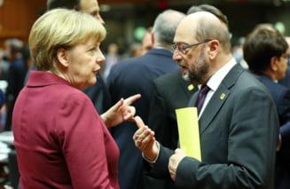 """""""Marea coalitie"""" de la Berlin este aproape gata. Merkel si Schulz sunt optimisti (Video)"""