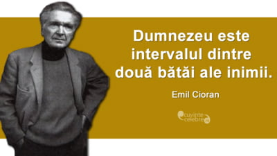 """""""Omul este cel mai scurt drum intre viata si moarte"""". 110 ani de la nasterea lui Emil Cioran"""