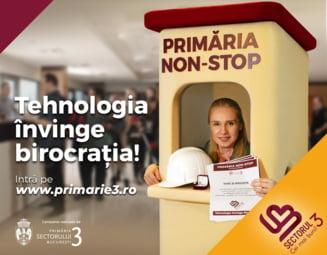 (P) In Sectorul 3, Primaria e NON-STOP. Taxe si impozite, autorizatii, solicitari, totul se rezolva online!