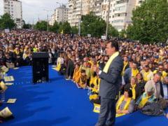 (P) Peste 6000 de liberali, in frunte cu Ludovic Orban si Rares Bogdan, i-au strigat lui Oprisan, din centrul Focsaniului, ca zilele PSD sunt numarate