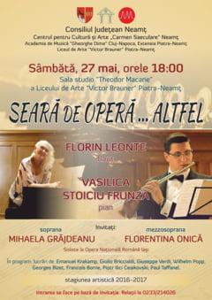 """Seara de opera... altfel"", la Liceul de Arta ""Victor Brauner"""
