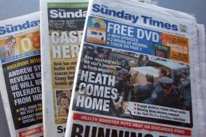"""""""Sunday Times"""", folosit ca platforma de testare a ziarelor online platite"""