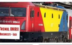 """Trenul Unirii"", cu locomotiva tricolora, va trece astazi prin Barlad si Vaslui!"