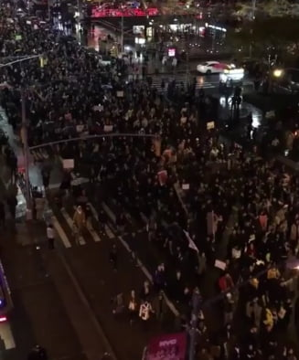 """""""Trump nu e presedintele meu!"""" Proteste masive in marile orase din SUA (Video)"""
