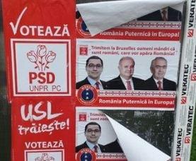 """""""USL traieste"""", pe afisele PSD lipite la Targu Jiu. Antonescu: """"V-am spus ca fura"""""""