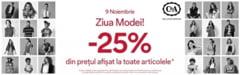 """ZIUA MODEI"" la C&A Giurgiu - 25% REDUCERE la TOATE ARTICOLELE!"