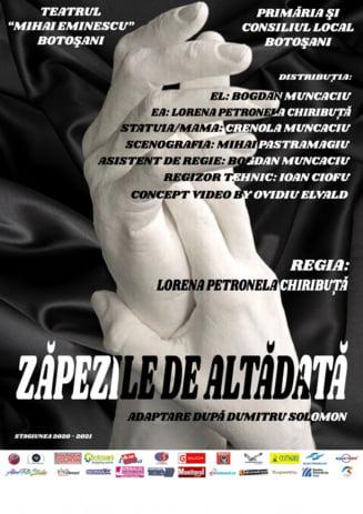"""""""Zapezile de altadata"""", un spectacol repus in scena de actorii Teatrului """"Mihai Eminescu"""" Botosani"""