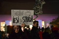A sasea zi de proteste: Presedintele Iohannis a fost la Universitate (Galerie foto - Video)