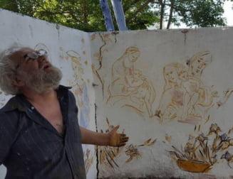 Aberatia zilei: Artist amendat ca a pictat un loc infect din centrul Capitalei. Dancu se ofera sa-i dea el banii