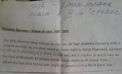 Aberatia zilei: Doamna Daciana spala bani, subiect de teza la liceu