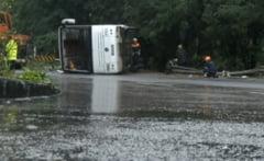 Autocar cu romani rasturnat in Ungaria: Una dintre victime e paralizata