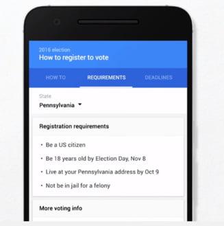Clipul zilei: Google se implica in alegerile prezidentiale din SUA
