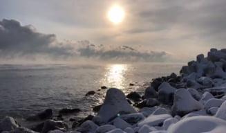 "Clipul zilei: Marea Neagra ""fierbe"" la -15 grade"