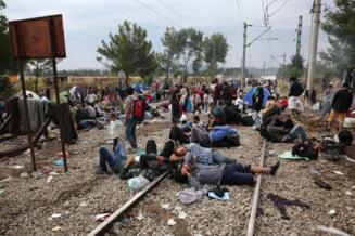 Criza imigrantilor: Refugiati marcati cu numere pe maini