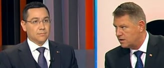 Dezbatere Ponta-Iohannis: Candidatii si-au ascutit armele - plagiat vs. incompatibilitate