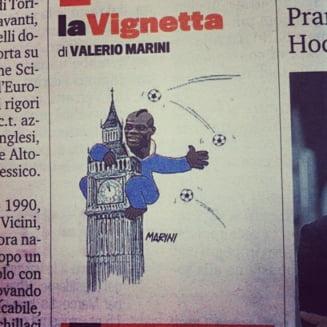 EURO 2012: Caricatura cu Balotelli, la un pas de a arunca Italia intr-un scandal urias