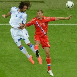 EURO 2012: Grecia, victorie de zile mari cu Rusia