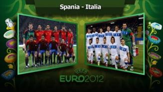 EURO 2012: Spania - Italia, repere pentru istorie