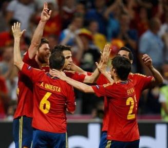 EURO 2012: Spania bate Franta si se califica in semifinale