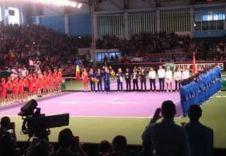 Fed Cup, Romania - Spania: Gest superb facut de suporterii romani la adresa ibericelor