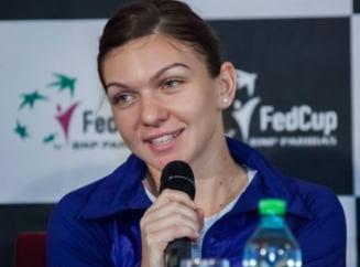 Fed Cup, Romania - Spania: Reactia Simonei Halep dupa victoria clara