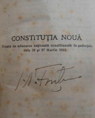 File de istorie: Constitutia din 1923, una dintre cele mai democratice ale vremii