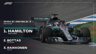 Formula 1: Hamilton castiga acasa la Vettel. Germanul a facut o greseala copilareasca si a abandonat