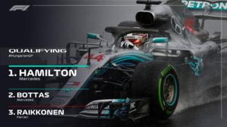 Formula 1: Hamilton castiga calificarile din Ungaria, pe o ploaie torentiala