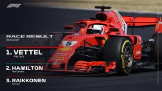 Formula 1: Sebastian Vettel castiga acasa la Lewis Hamilton, la Silverstone
