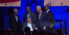 Fotografia zilei: Cinci fosti presedinti ai SUA, intr-o rara demonstratie de unitate