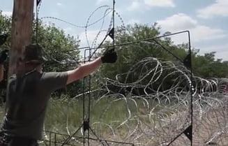 Fotografia zilei: Gardul ridicat in fata imigrantilor