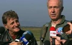 Fotografia zilei: Mircea Dusa si Hans Klemm, zbor in F-16