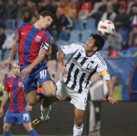 Liga 1: Astra invinge Steaua dupa un meci penibil