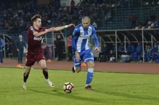 Liga 1: CFR Cluj bate la limita CSU Craiova, intr-un derbi tensionat, cu mari probleme de arbitraj