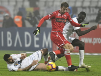 Liga 1: Dinamo pierde primul meci din play-out, dupa o deplasare dificila la Medias