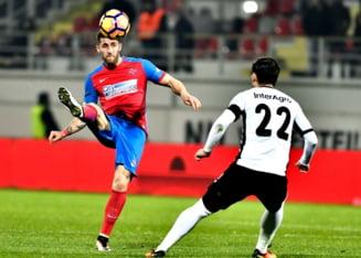 Liga 1: FCSB castiga la scor derbiul cu Astra si urca pe primul loc