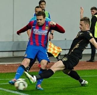 Liga 1: Steaua pierde la Giurgiu. Campioana, macelarita de arbitri