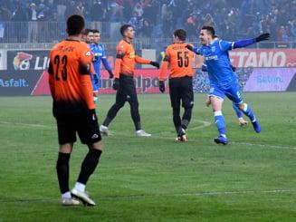 Liga 1: Universitatea Craiova castiga la limita cu Dunarea Calarasi, dupa o executie fabuloasa a lui Mateiu