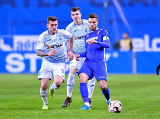 Liga 1: Universitatea Craiova s-a chinuit cu lanterna rosie