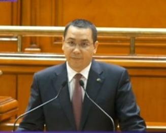 Motiunea de cenzura impotriva Guvernului - Ponta: Asist cu uimire. Instrument electoral