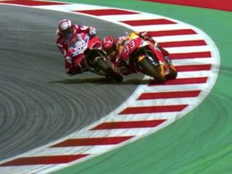 MotoGP: Dovizioso castiga in Austria dupa o lupta pasionanta cu Marquez. Rossi dezamageste