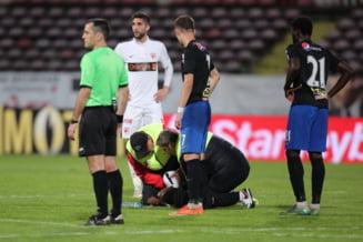 Patrick Ekeng a murit: Reactie halucinanta a arbitrului de la Dinamo - Viitorul, rugat sa opreasca jocul: Ma luati la misto?