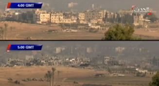 Razboi in Gaza: Un cartier a fost distrus complet intr-o singura ora (Video)