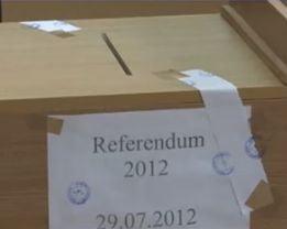 Referendum 2012 - 46,23% prezenta la vot - rezultate partiale BEC la 99.97% din sectii