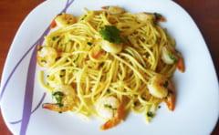 Reteta nutritionistului: Spaghete din grau dur cu creveti