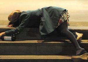 Revelion englezesc: petrecareti beti, cazuti in strada, la tot pasul (Galerie foto)